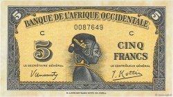 5 Francs AFRIQUE OCCIDENTALE FRANÇAISE (1895-1958)  1942 P.28a SPL