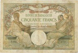 50 Francs MADAGASCAR  1948 P.38 TB+