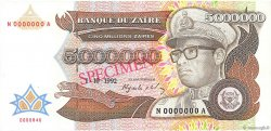 5000000 Zaïres ZAÏRE  1992 P.46s pr.NEUF