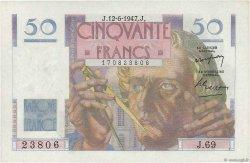 50 Francs LE VERRIER FRANCE  1947 F.20.08 aUNC