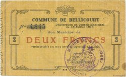 2 Francs FRANCE régionalisme et divers BELLICOURT 1915 JP.02-0198 TB+