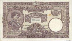 100 Francs BELGIQUE  1927 P.095 TTB+