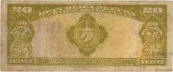 20 Pesos CUBA  1945 P.072f TB
