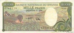 1000 Francs RWANDA  1978 P.14a SUP