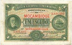 1 Escudo MOZAMBIQUE  1921 P.066b TTB