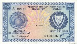 250 Mils CHYPRE  1972 P.41b SUP