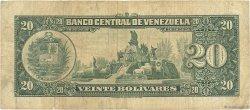 20 Bolivares VENEZUELA  1966 P.043e TB