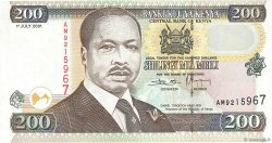 200 Shillings KENYA  2001 P.38f NEUF