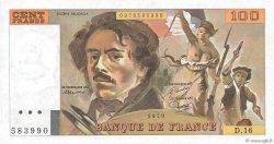 100 Francs DELACROIX modifié FRANCE  1979 F.69.02c SPL+