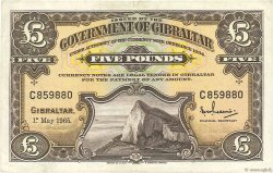 5 Pounds GIBRALTAR  1965 P.19a TTB