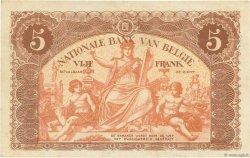 5 Francs BELGIQUE  1914 P.074a SUP