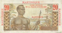 20 Francs E.Gentil MARTINIQUE  1946 P.29 TTB