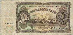 20 Latu LETTONIE  1935 P.30a TTB