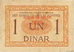 4 Kronen sur 1 Dinar YOUGOSLAVIE  1919 P.015 TTB