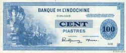 100 Piastres INDOCHINE FRANÇAISE  1945 P.078a TTB