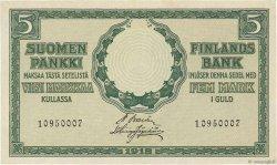 5 Markkaa FINLANDE  1918 P.036 SPL