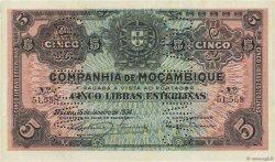 5 Libras MOZAMBIQUE Beira 1934 P.R32 SPL