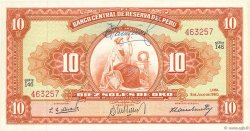 10 Soles PÉROU  1960 P.082A pr.NEUF