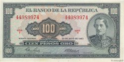 100 Pesos Oro COLOMBIE  1967 P.403c SPL