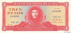 3 Pesos CUBA  1989 P.107b NEUF