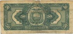 50 Sucres ÉQUATEUR  1942 P.094a pr.TB
