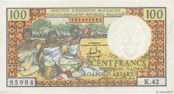 100 Francs - 20 Ariary MADAGASCAR  1966 P.57a SPL+