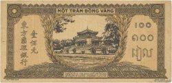 100 Piastres orange, cadre noir INDOCHINE FRANÇAISE  1942 P.073 TTB