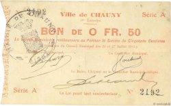 50 Centimes FRANCE régionalisme et divers CHAUNY 1915 JP.02-0479 TTB