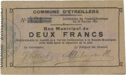 2 Francs FRANCE régionalisme et divers ETREILLERS 1915 JP.02-0760 TTB