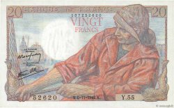 20 Francs PÊCHEUR FRANCE  1942 F.13.04 pr.NEUF