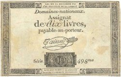 10 Livres FRANCE  1791 Ass.21a TTB