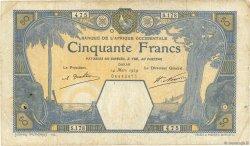 50 Francs DAKAR AFRIQUE OCCIDENTALE FRANÇAISE (1895-1958) Dakar 1929 P.09Bc TB