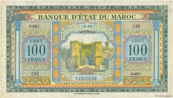 100 Francs type 1944 MAROC  1944 P.27a TTB