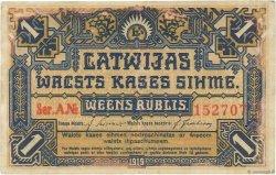 1 Rublis LETTONIE  1919 P.01 SUP