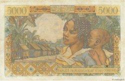 5000 Francs - 1000 Ariary MADAGASCAR  1961 P.55 TB à TTB