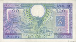 500 Francs - 100 Belgas BELGIQUE  1943 P.124 TTB+