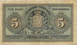 5 Markkaa FINLANDE  1886 P.A50b pr.TB