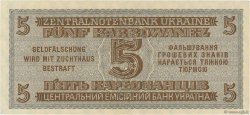 5 Karbowanez UKRAINE  1942 P.051 SPL