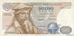 1000 Francs BELGIQUE  1967 P.136a TTB