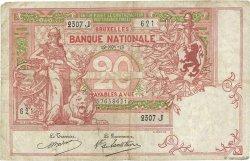 20 Francs BELGIQUE  1913 P.067 pr.TB