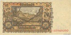 20 Reichsmark ALLEMAGNE  1939 P.185 TTB