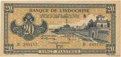 20 Piastres marron INDOCHINE FRANÇAISE  1942 P.071 SPL