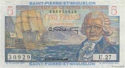 5 Francs Bougainville SAINT PIERRE ET MIQUELON  1946 P.22 pr.NEUF