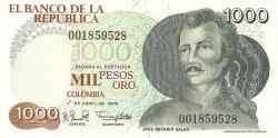 1000 Pesos Oro COLOMBIE  1979 P.421a NEUF