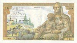 1000 Francs DÉESSE DÉMÉTER FRANCE  1942 F.40.05 pr.NEUF