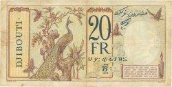20 Francs DJIBOUTI  1936 P.07 TB