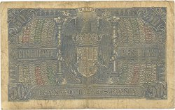 50 Pesetas ESPAGNE  1940 P.117 pr.TB