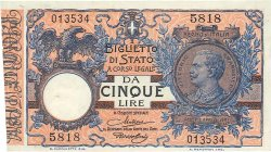 5 Lires ITALIE  1923 P.023f NEUF