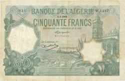 50 Francs type 1912 vert ALGÉRIE  1936 P.080a