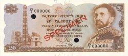 20 Dollars ÉTHIOPIE  1961 P.21s NEUF